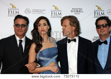 AVALON - SEP 27:  Andy Garcia, Emmy Rossum, William H. Macy, Roman Coppola at the Catalina Film Festival Gala at the Casino on September 27, 2014 in Avalon, Catalina Island, CA