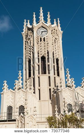 Clocktower of the Auckland University - Old Arts Building was founded in 1926. This university is the largest one in New Zealand