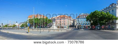 Lisbon, Portugal. August 31, 2014:  Duque da Terceira Square, in Cais do Sodre. This area is well known Lisbon nightlife spot.