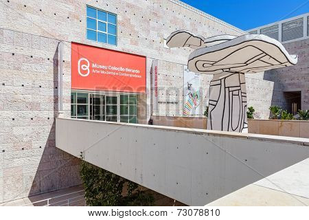 Lisbon, Portugal. August 24, 2014: Centro Cultural de Belem (belem cultural center). Entrance of  the Berardo Collection museum and other exhibitions.