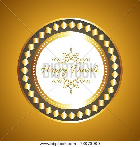 Vector hindu festival diwali card