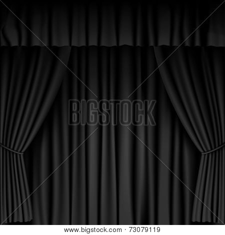 black curtain background