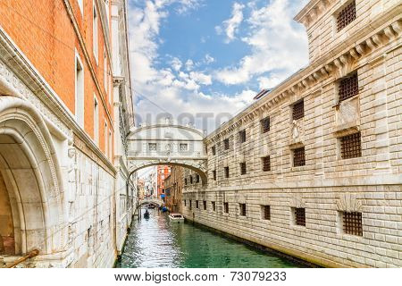 Bridge of Sighs - Ponte dei  Sospiri.Venice,Veneto, Italy, Europe.