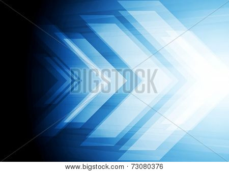 Abstract big arrow background. Hi-tech vector design