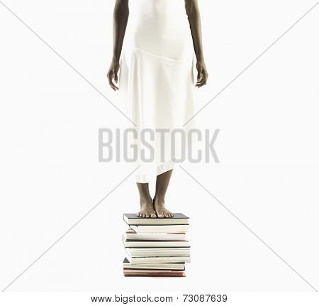 Young woman seeking knowledge