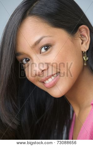 Portrait of Filipino woman smiling