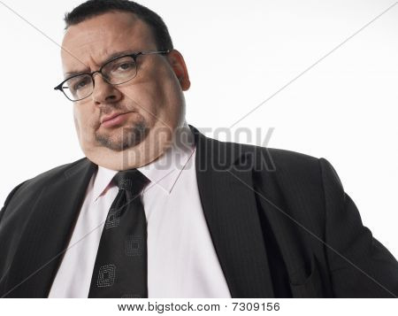 Concerned businessman portrait