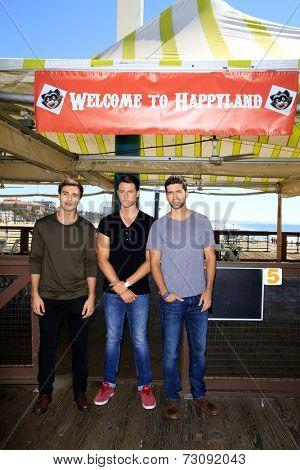 LOS ANGELES - SEP 24:  Cameron Moulene, Shane Harper, Ryan Rottman at the