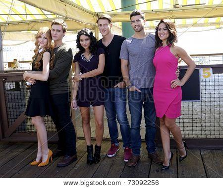 LOS ANGELES - SEP 24:  Cameron Moulene, Shane Harper, Ryan Rottman, Bianca Santos, Katherine McNamara, Camille Guaty at the