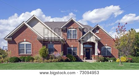 Landscaped Red Brick Home