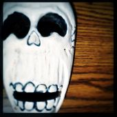 pic of day dead skull  - Instagram filtered image of a Day of the Dead skull - JPG