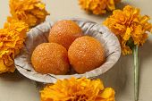 picture of laddu  - Boondi Ladoo  - JPG