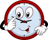 pic of analog clock  - Mascot Illustration Featuring a Clock Adjusting the Time - JPG