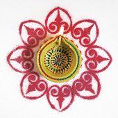 pic of rangoli  - A Diwali - JPG