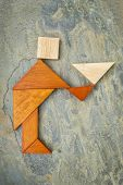 pic of tangram  - abstract of a butler - JPG