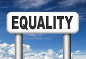 pic of equality  - equality no difference equal rights and opportunities no discrimination  - JPG