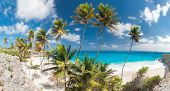 foto of bottom  - Bottom Bay is one of the most beautiful beaches on the Caribbean island of Barbados - JPG