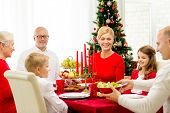 picture of turkey dinner  - family - JPG