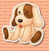 picture of stuffed animals  - Illustration of a stuffed animal dog - JPG