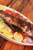 stock photo of sunfish  - main course - JPG