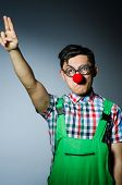 stock photo of nazi  - Funny clown saluting like Nazi - JPG