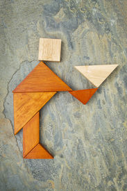 image of tangram  - abstract of a butler - JPG