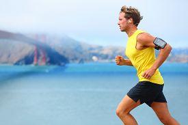 picture of gate  - Athlete running man  - JPG