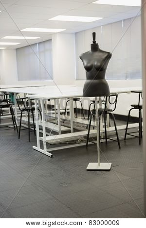 Empty class room with a model in college