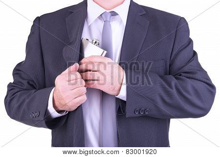 Man With His Hip Flask