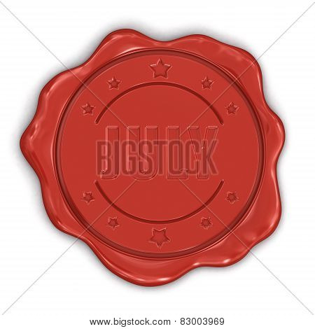 Wax Stamp july (clipping path included)