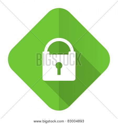 padlock flat icon secure sign