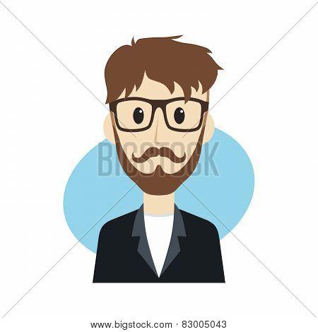 hipster guy cartoon