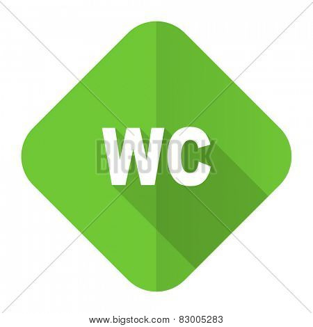 toilet flat icon wc sign