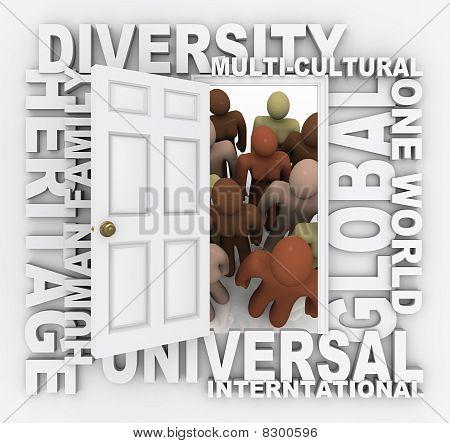 Diversity - Open Door To Many Diverse Cultures