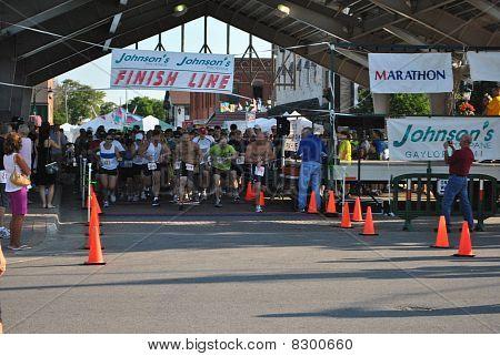 Runners at Gaylord Michigan 10K