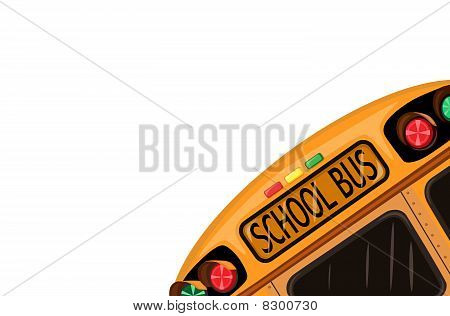 School bus over white