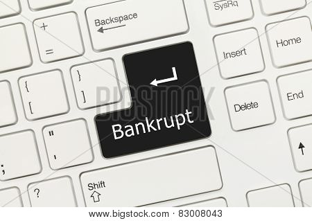 White Conceptual Keyboard - Bankrupt (black Key)