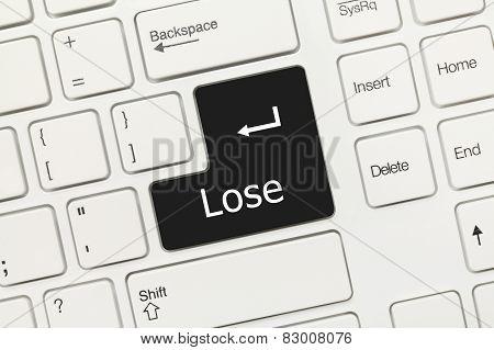 White Conceptual Keyboard - Lose (black Key)