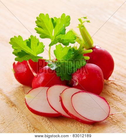 Fresh  Radishes  Isolated.