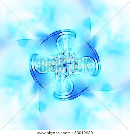 Decorative Fractal Wallpaper - Intricate Patterns Of Blue Light