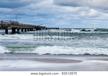 Jetty On The Baltic Sea Coast