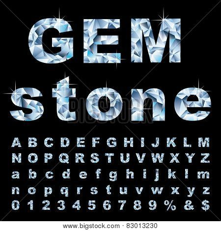 vector gemstone alphabet