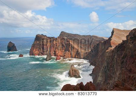 The View Of  East Coast Of Madeira Island