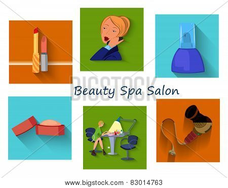 Beauty Spa Salon Squares