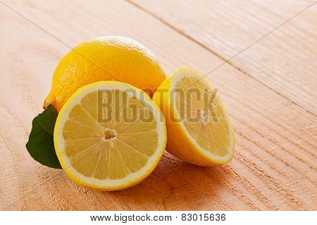 Fresh Lemon  Isolated.