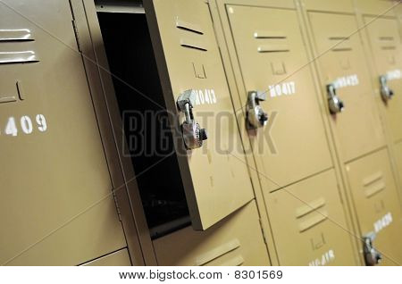 Old Lockers With Locks