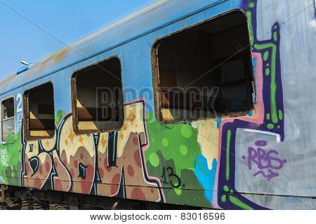 Rusty Train Wagons