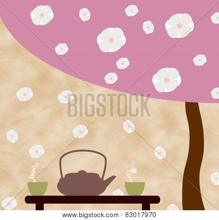 Tea ceremony under the sakura