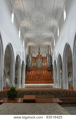 Interiors of a Catholic Church