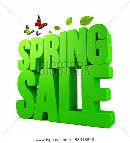 3D Rendered Spring Sale Word Isolated with Clipping Paths